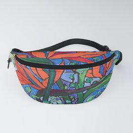 Birds of Paradise in Blue After Matisse Fanny Pack