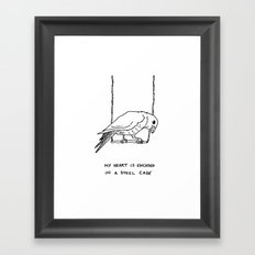 Caged Bird Framed Art Print