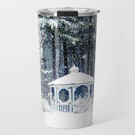 Snowy Gazebo Travel Mug