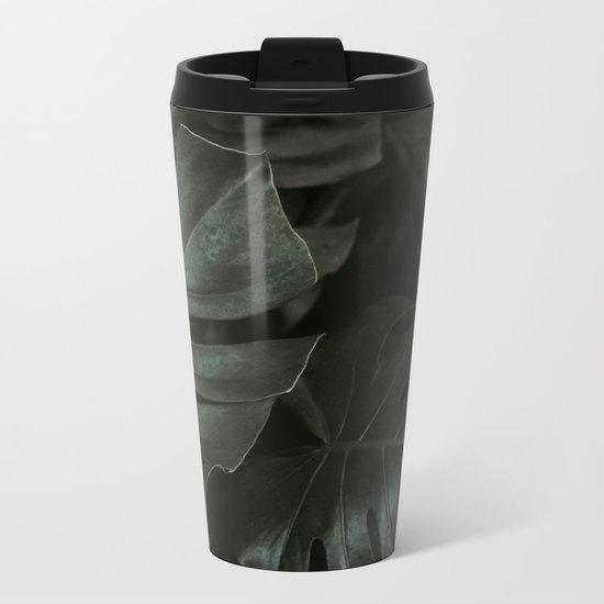 Monstera Fade Metal Travel Mug