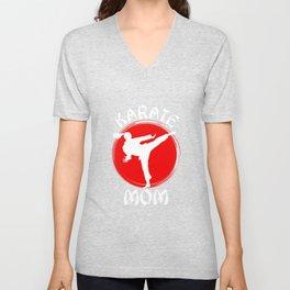 Mothers Day Gift Idea Karate Unisex V-Neck