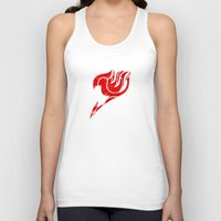 fairy tail Tank Tops featuring Fairy Tail Segmented Logo circle by JoshBeck