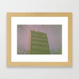 Purple Building Framed Art Print
