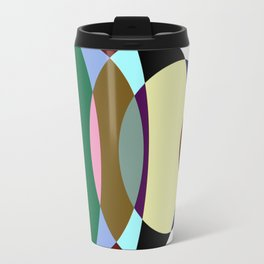 Pastel Meditation - Pastel coloured, relaxing, calming, abstract, elliptical interactions Travel Mug