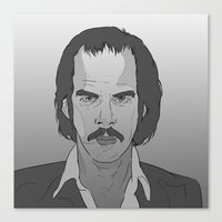 nick cave Canvas Prints featuring Nick Cave by Alfredo Torres