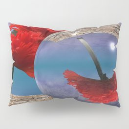 poppy and crystal ball - refraction of light Pillow Sham