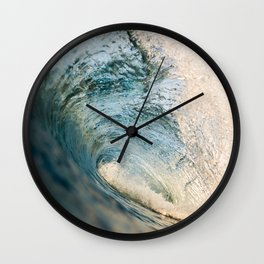 Sunrise light on beautiful wave Wall Clock