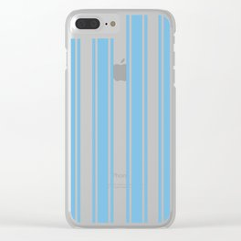 Ribbons Pattern Blue Clear iPhone Case