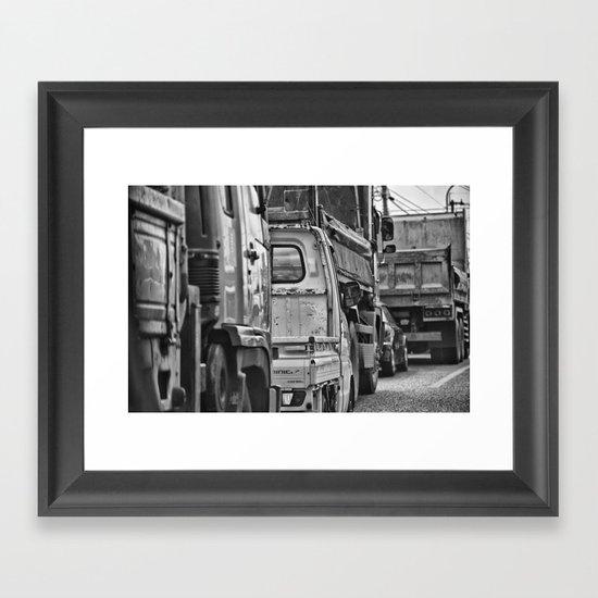 Traffic Reflection Framed Art Print