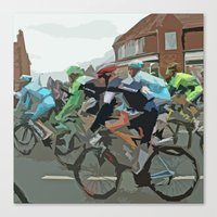 tour de france Canvas Prints featuring Tour de France 2014 by Bloon Images