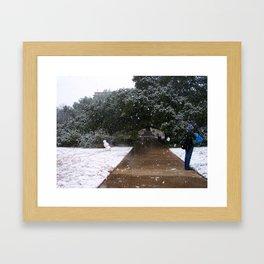 A&M Century Tree on a Snow Day Framed Art Print