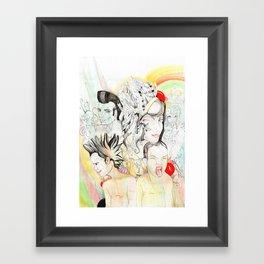 Crazy Family Framed Art Print