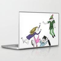 peter pan Laptop & iPad Skins featuring Peter Pan by Thatseelyah