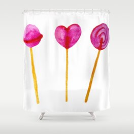 Candy Time (Sweet Candy in pink) Shower Curtain
