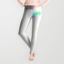 Colorful Hot Planet, Global Warming Leggings