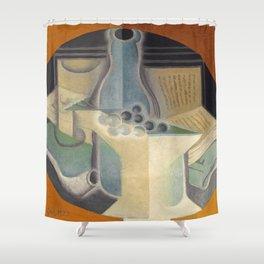 "Juan Gris ""Raisins, carafe et livre (Grapes, jug and book)"" Shower Curtain"