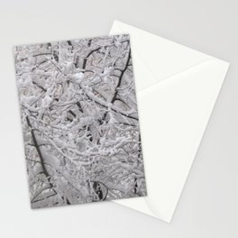 Snow laden trees Stationery Cards