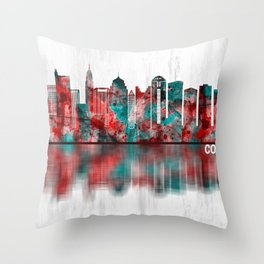 Columbus Ohio skyline Throw Pillow