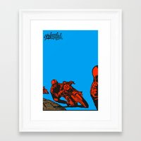 motorcycle Framed Art Prints featuring Motorcycle by bike51design