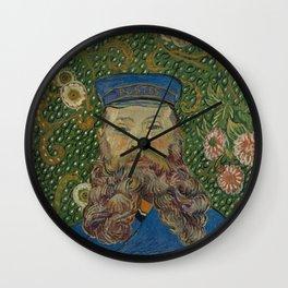 Vincent van Gogh - Portrait of Joseph Roulin (1889) Wall Clock