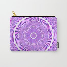 Lilac Round Circles Art Carry-All Pouch