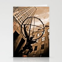 atlas Stationery Cards featuring Atlas by Chad Madden