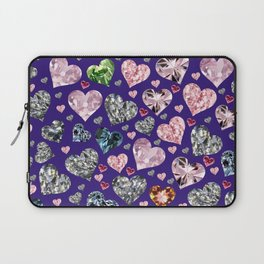 Heart Diamonds are Forever Love Violet Laptop Sleeve
