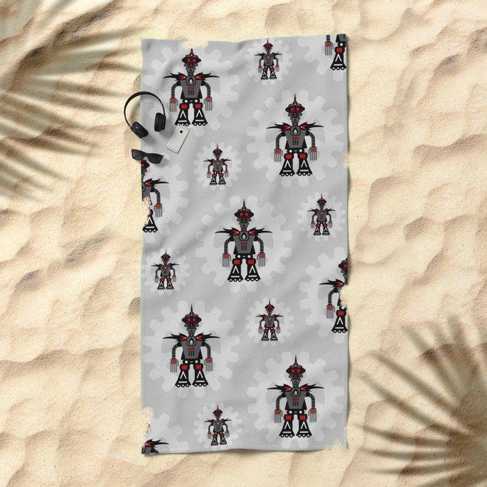 Evil Robot Beach Towel