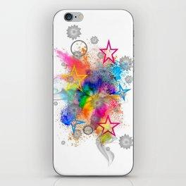 Color blobs by Nico Bielow iPhone Skin