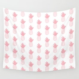 Coral Pineapple Pattern 2 Wall Tapestry
