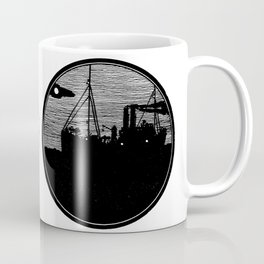 Silent boat. Coffee Mug