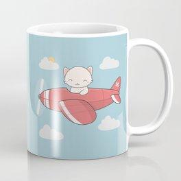 Kawaii Cute Flying Cat Coffee Mug