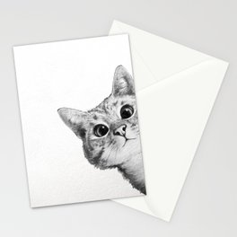 sneaky cat Stationery Cards
