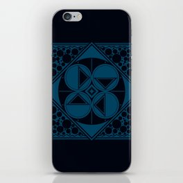 Dar Forma - Blue iPhone Skin