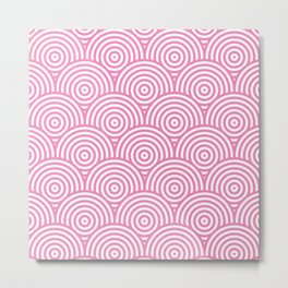 Scales - Pink & White #234 Metal Print