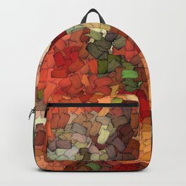 Autumn Inspired Torn Scraps 2492 Backpack