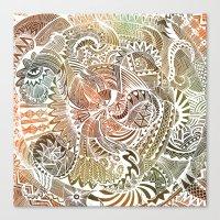 batik Canvas Prints featuring Batik by brenda erickson