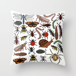 Bugs alive! Throw Pillow