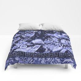 Violet Night Nature Scene Comforters