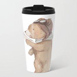 Aviator Bear Metal Travel Mug