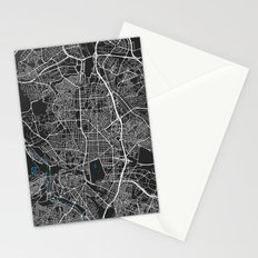 Madrid city map black colour Stationery Cards