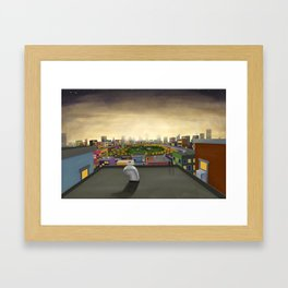 The Fall in Big City, Peanut Butter Zombie Print No.1 Framed Art Print