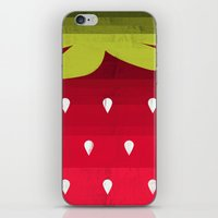 strawberry iPhone & iPod Skins featuring Strawberry by Kakel