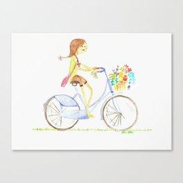 let's take a bike Canvas Print