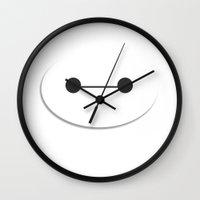 baymax Wall Clocks featuring baymax by tukylampkin