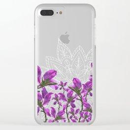 Mandala + Vines Clear iPhone Case