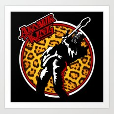 Armor King 80s Rock Shirt Art Print