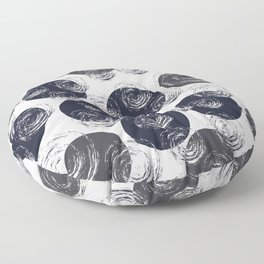 Circular Strokes Patched Pattern III Floor Pillow