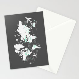 Around the World Stationery Cards