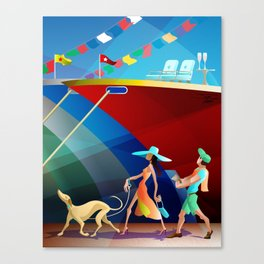 COUPLE AT A BOAT SHOW Canvas Print